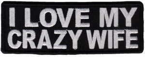 "I Love My Crazy Wife Iron On Sew On Embroidered Patch 4""/10cm - A Patch E Store"