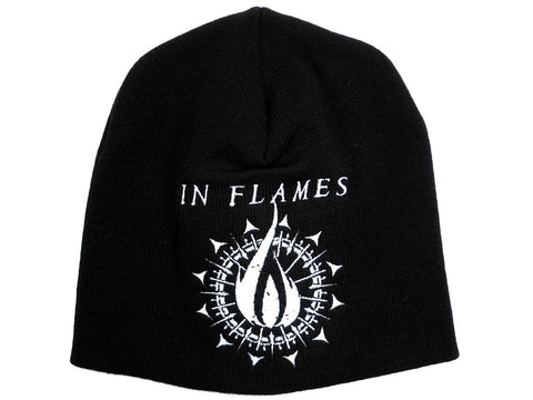 IN FLAMES Logo Winter Wool Beanie Hat BNWT - A Patch E Store