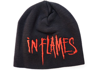 IN FLAMES Red Logo Acrylic Wool Beanie Hat BNWT - A Patch E Store