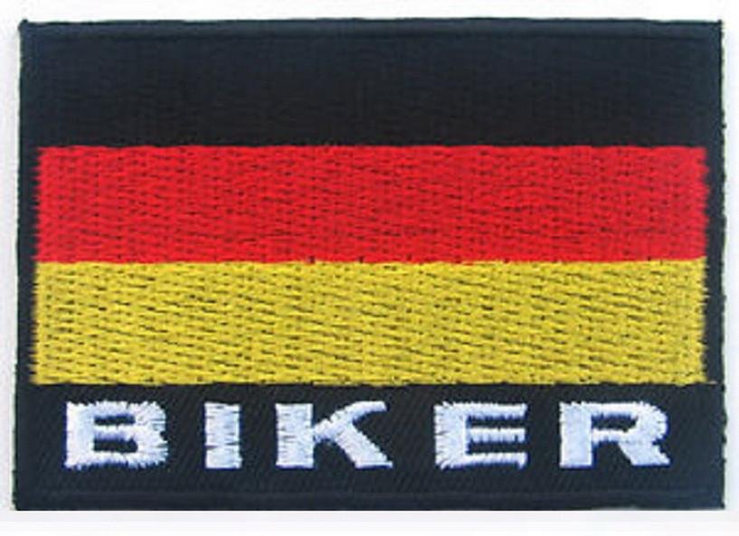 Germany Flag Proud German Biker Embroidered Iron On Patch - A Patch E Store