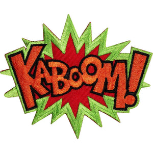 KABOOM Batman Superman Iron Sew On Embroidered Patch - A Patch E Store