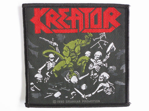 KREATOR Pleasure To Kill Vintage Sew On Woven Metal Patch