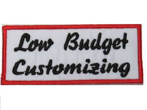 "Low Budget Customizing Hog Rider Embroidered Iron On Patch 3.9""/10cm - A Patch E Store"