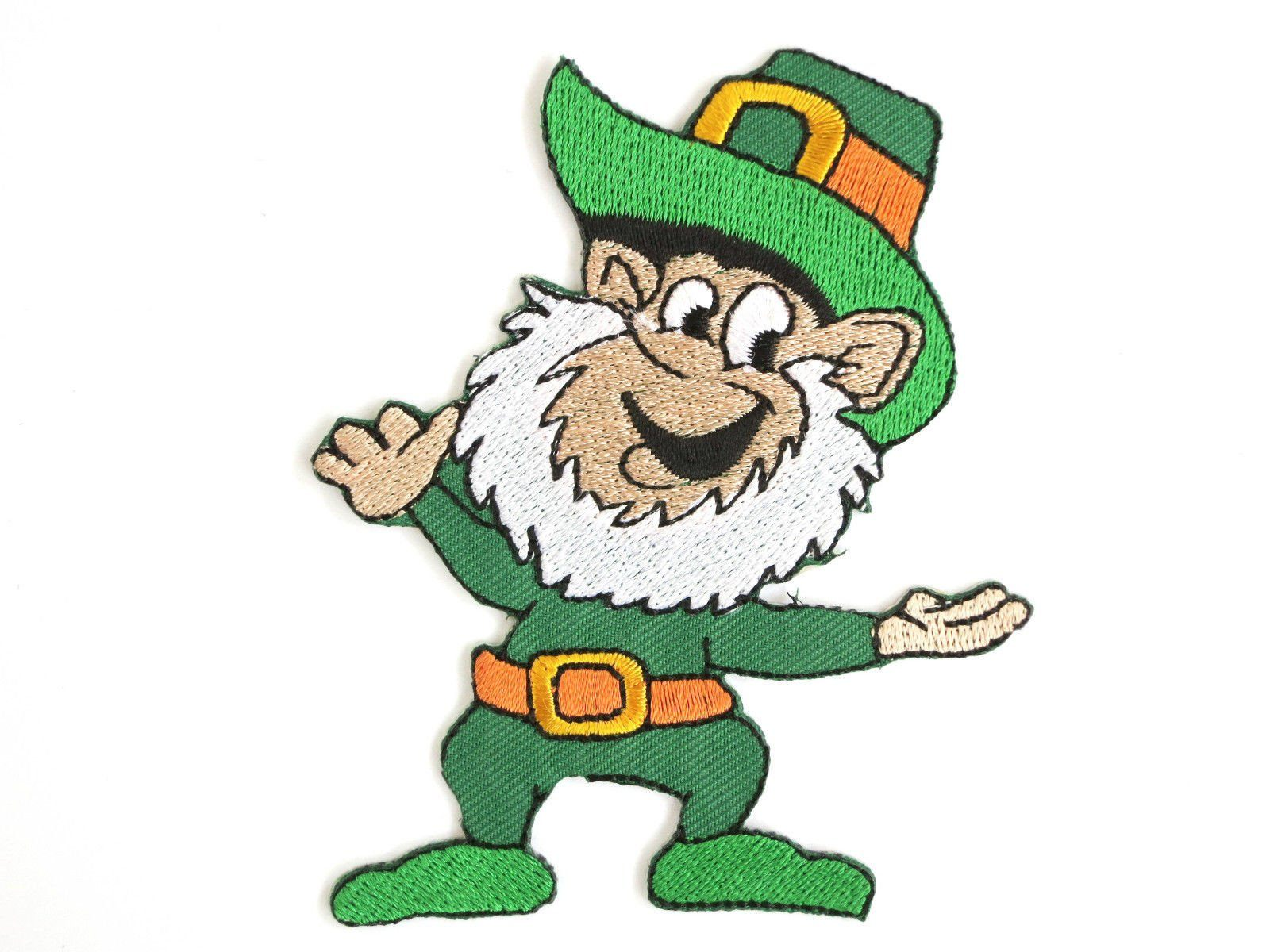 "Lucky Irish Leprechaun Iron On Embroidered Patch 3.6""/9.6cm - A Patch E Store"