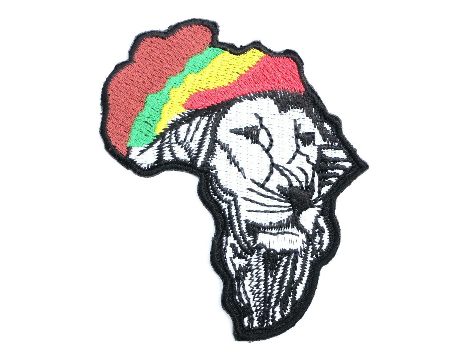 "LION OF JUDAH Rasta Hat Iron On Embroidered Patch 3.2""/8.5cm - A Patch E Store"