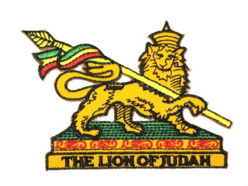 "THE LION OF JUDAH Rasta Iron On Embroidered Patch 3.7""/10cm - A Patch E Store"