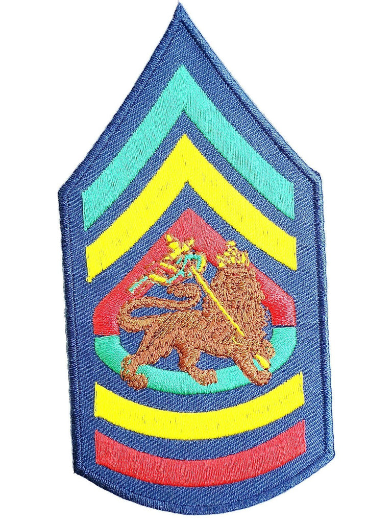"Lion Of Judah Rasta Sgt Jah Army Iron On Sew On Embroidered Patch 4.6""/12cm - A Patch E Store"