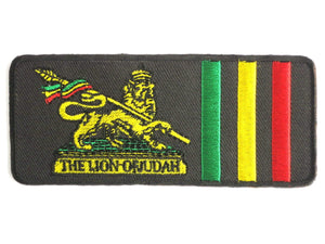 "THE LION OF JUDAH Rasta Iron On Embroidered Patch 4.5""/11cm - A Patch E Store"