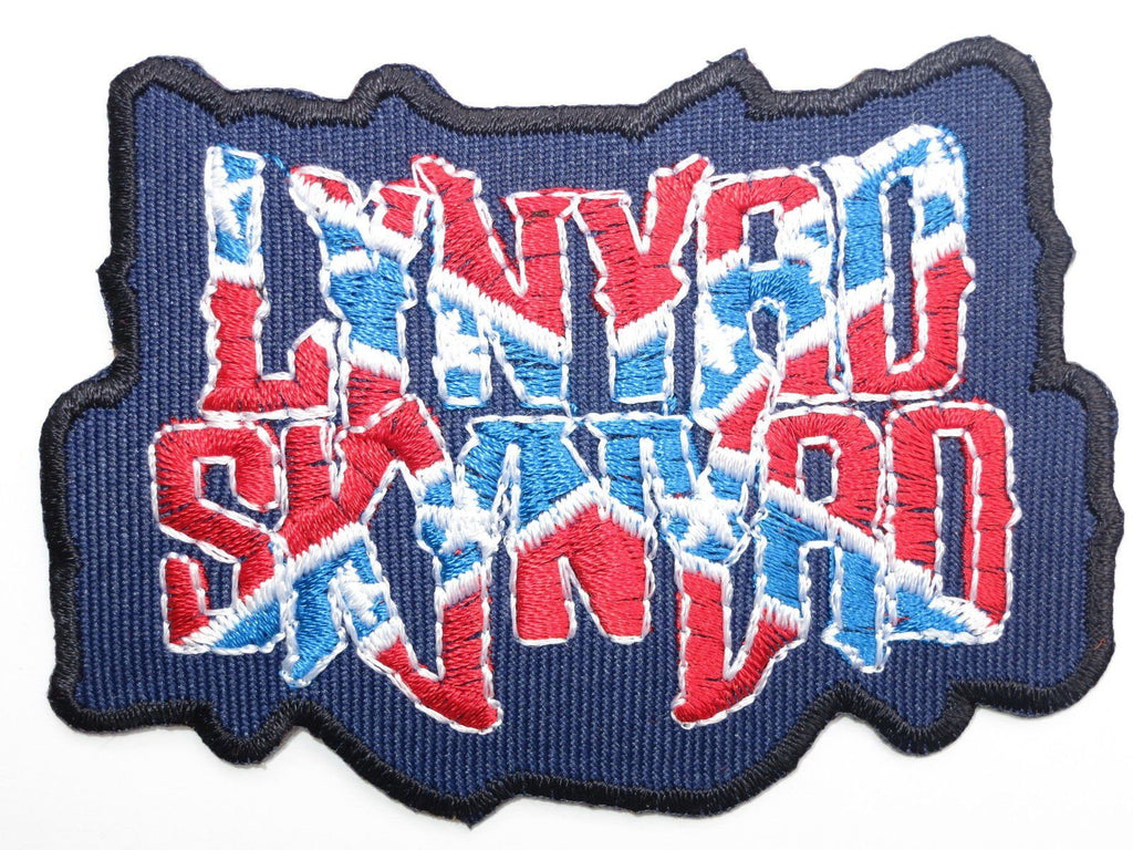 "LYNYRD SKYNYRD Rebel Flag Iron On Embroidered Patch 3.2""/8cm - A Patch E Store"