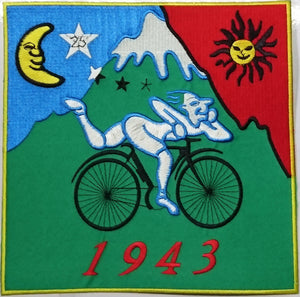 "Albert Hofmann LSD 1943 Bicycle Day XL Big Embroidered Back Patch 7.8""/20cm - A Patch E Store"
