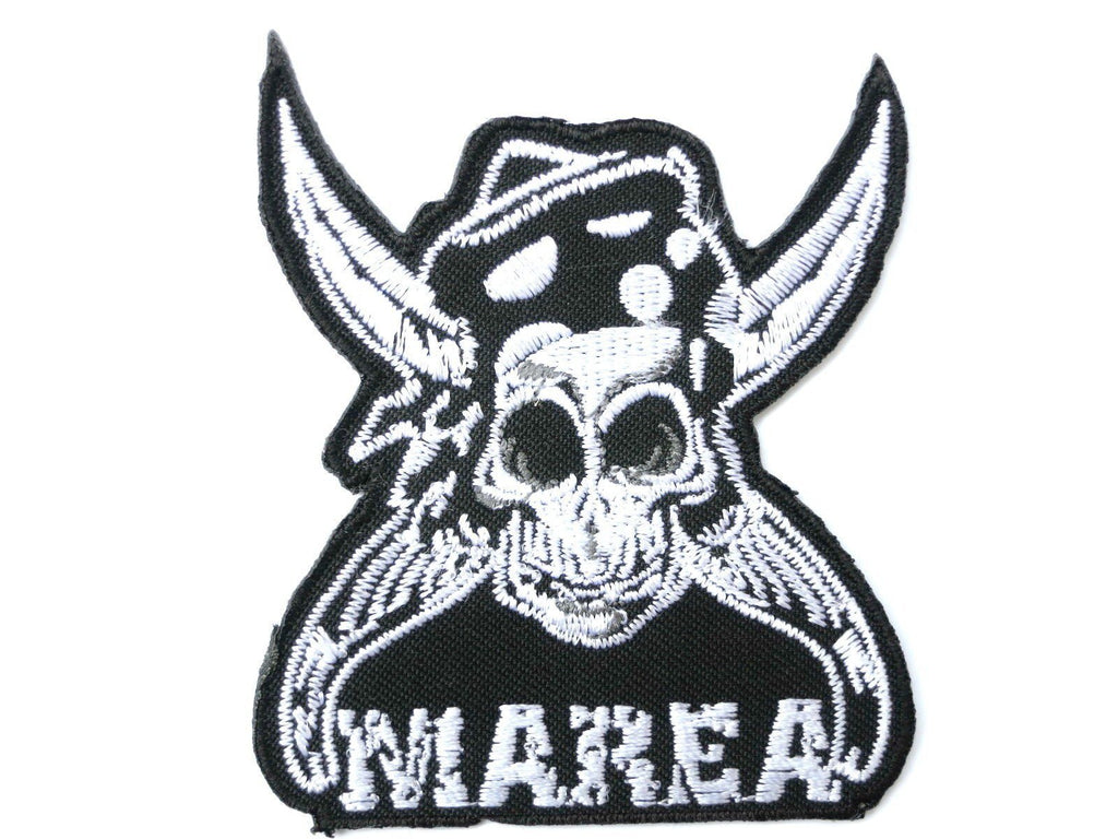 "MAREA Skull Logo Iron On Sew On Embroidered Patch 3.2""/8cm - A Patch E Store"