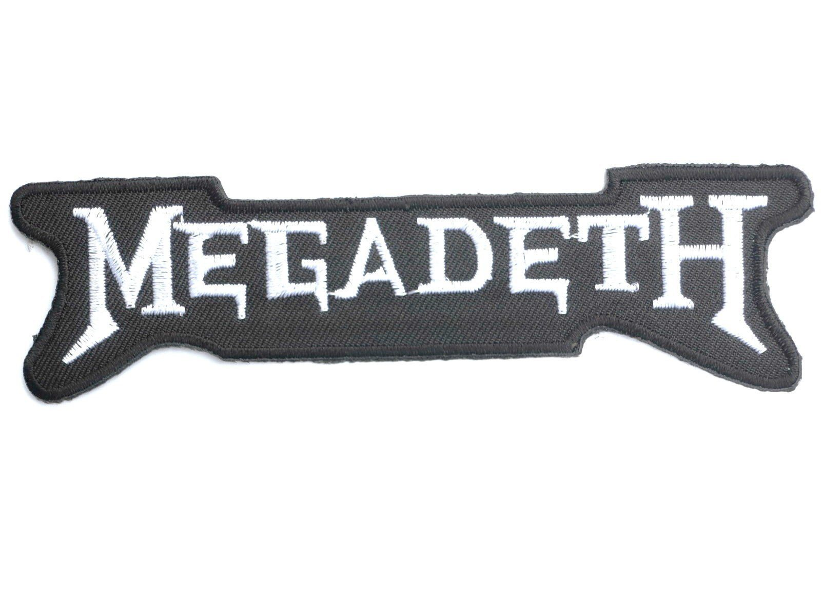 "MEGADETH Logo Iron On Sew On Embroidered Patch 5""/12cm - A Patch E Store"
