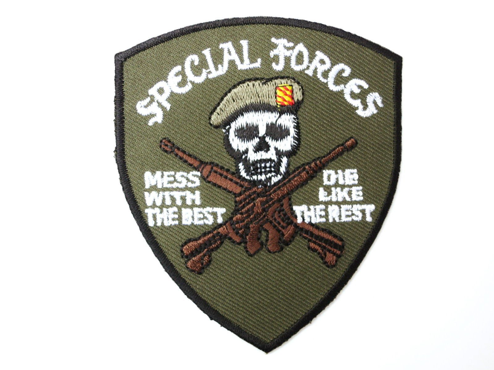 "Mess With The Best Die Like The Rest Iron On Patch 3.2""/8.4cm - A Patch E Store"