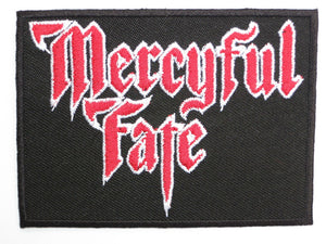 "MERCYFUL FATE King Diamond Iron On Embroidered Patch 3.5""/8.8cm - A Patch E Store"
