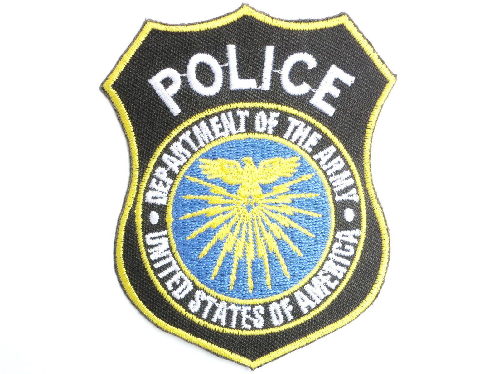 "USA Military Police Shield Iron On Embroidered Patch 3.2""/8cm - A Patch E Store"