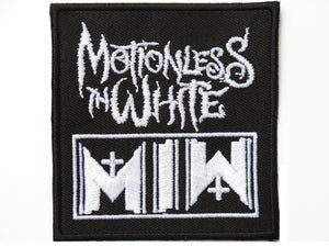 "MOTIONLESS IN WHITE MIW Embroidered Patch 2.9""/7.5cm - A Patch E Store"