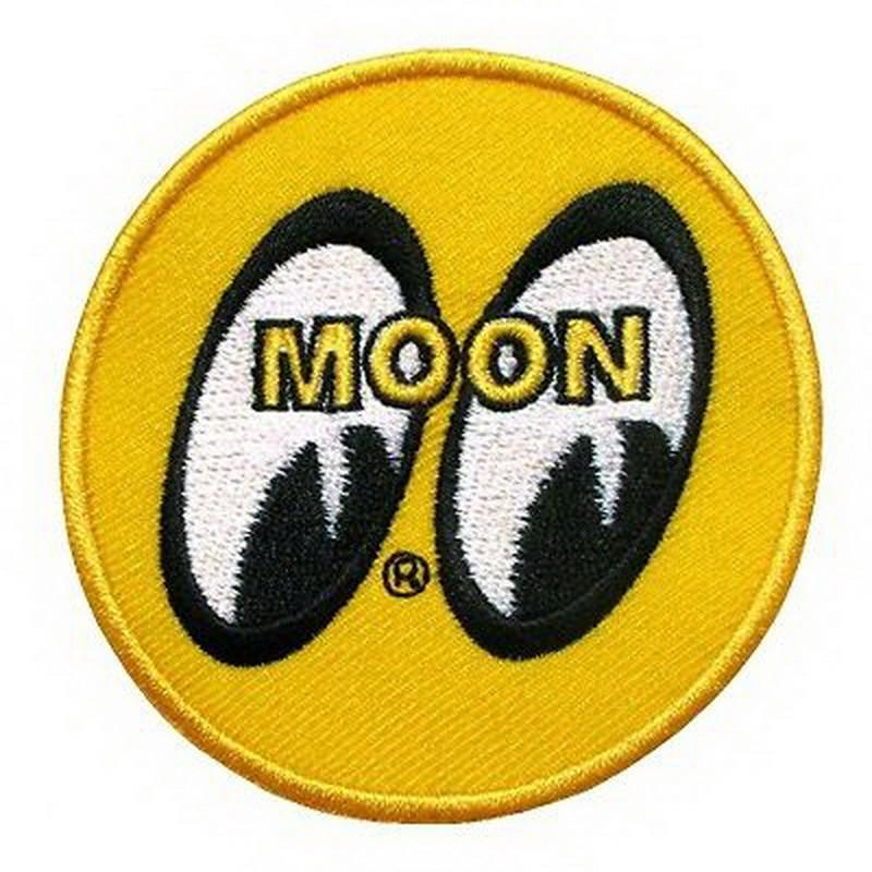 "MOON Rockabilly Hot Rod Drag Custom Embroidered Patch 3""/7.4cm - A Patch E Store"