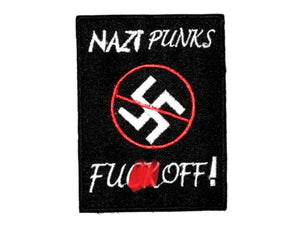 "Anti Racism Nazi Punks F. Off Iron On Embroidered Patch 3.4""/8.4cm - A Patch E Store"