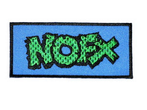 "NOFX Iron On Sew On Punk Rock Embroidered Patch 4""/10.5cm - A Patch E Store"
