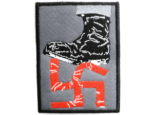 "Anti Racism Nazi F Off Fascism Sew On Embroidered Patch 3""/7.6cm - A Patch E Store"
