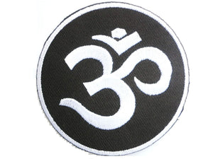 "Om Aum Yoga Hippy Hindu Iron On Embroidered Patch 3""/8cm - A Patch E Store"