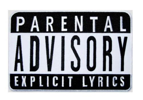 "PARENTAL ADVISORY Hip Hop Iron On Embroidered Patch 3"" - A Patch E Store"