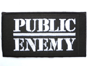 "PUBLIC ENEMY Iron On Sew On Embroidered Hip Hop Patch 3.9""/9cm - A Patch E Store"