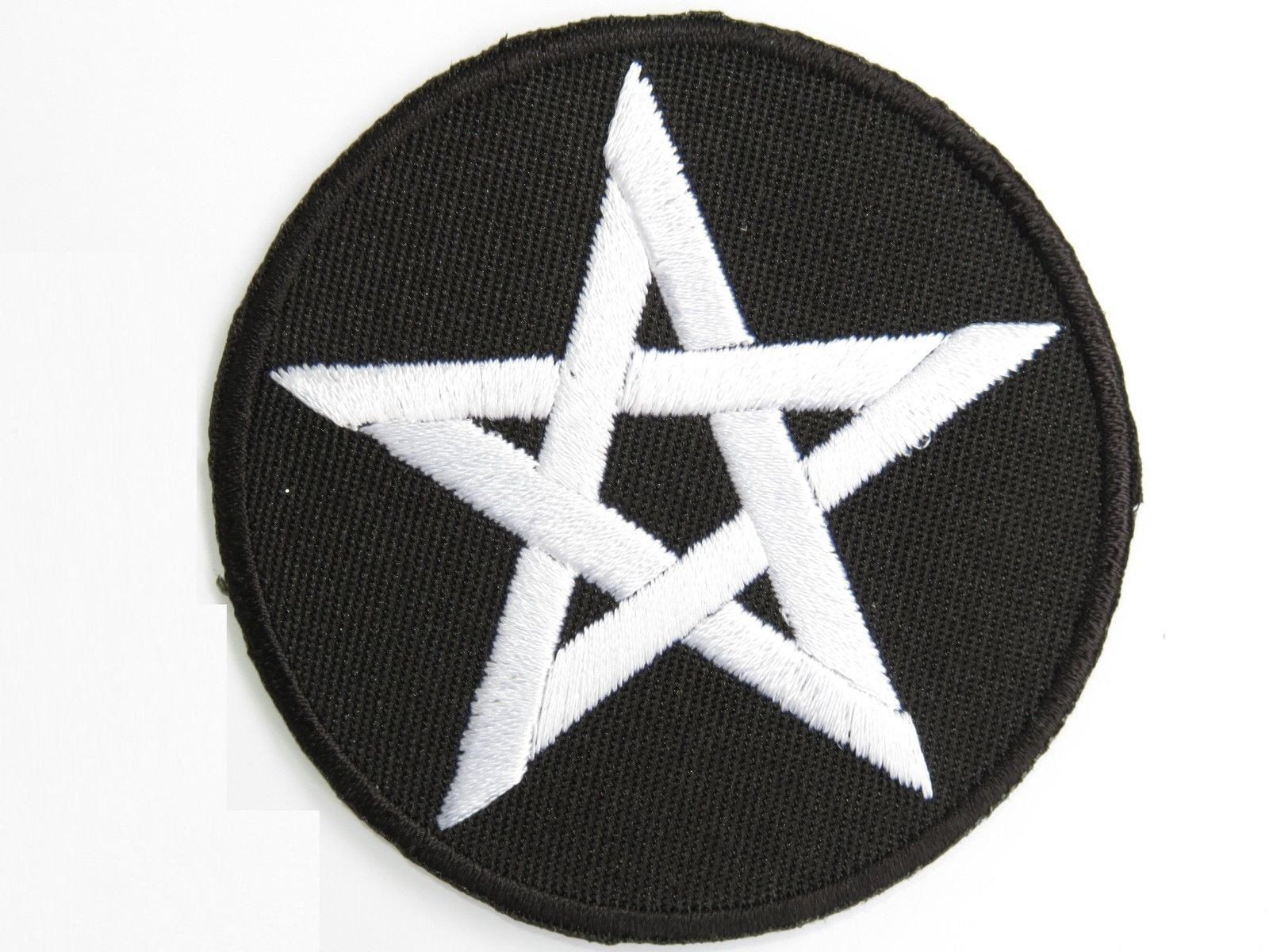 "PENTAGRAM Satanic Goth Occult Iron On Embroidered Patch 2.6""/6.8cm - A Patch E Store"
