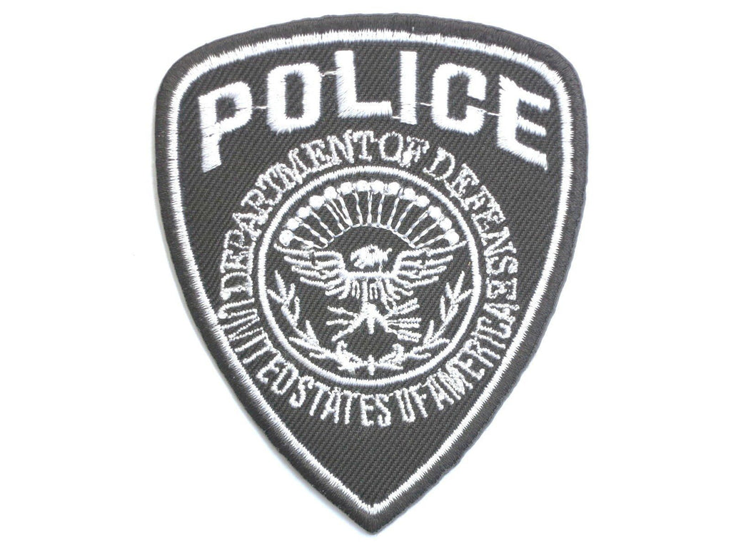 "USA POLICE Shield Defense Department Iron On Patch 3.4""/8cm - A Patch E Store"