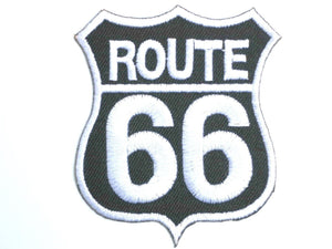 "ROUTE 66 Road Sign Biker Iron On Embroider Patch 3.1""/8cm - A Patch E Store"