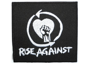 "RISE AGAINST Iron On Punk Rock Embroidered Patch 3""/7.5cm - A Patch E Store"