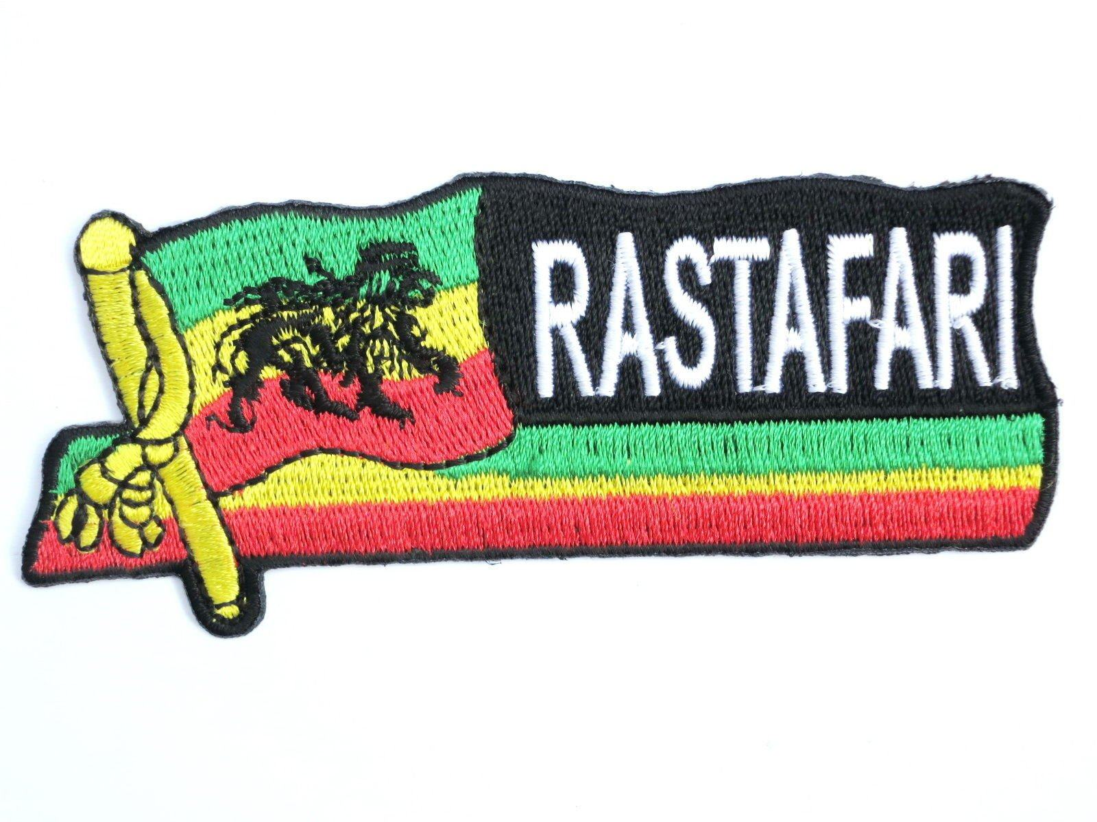 "RASTAFARI Lion Of Judah Flag Iron On Embroidered Patch 4""/10cm - A Patch E Store"