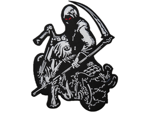 "Demon Death Rider Reaper Embroidered Big Back Patch 12""/30cm - A Patch E Store"