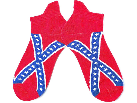 Rebel Flag Confederate Mens Ladies Unisex Ankle Socks - A Patch E Store