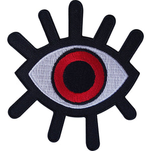 Evil All Seeing Red Eye Illuminati Iron On Embroidered Shirt Patch - A Patch E Store