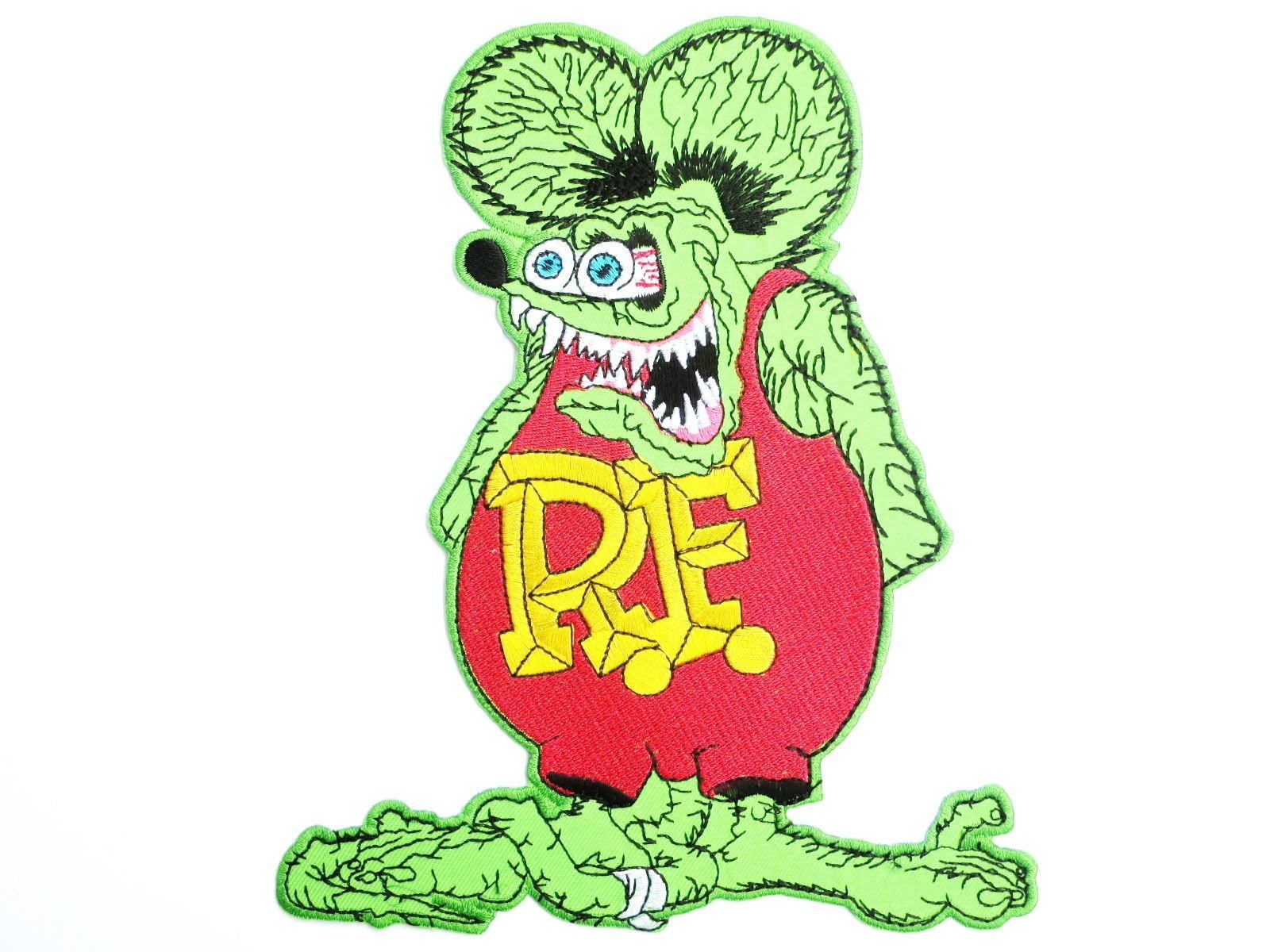 "Hot Rod Rat Fink Rockabilly Embroider XL Back Patch 8.1""/20.5cm - A Patch E Store"