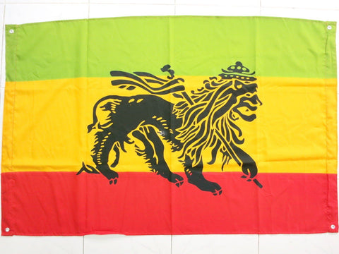 "Rastafari Rasta Lion Of Judah Ethiopia Flag With Eyelits 46"" - A Patch E Store"