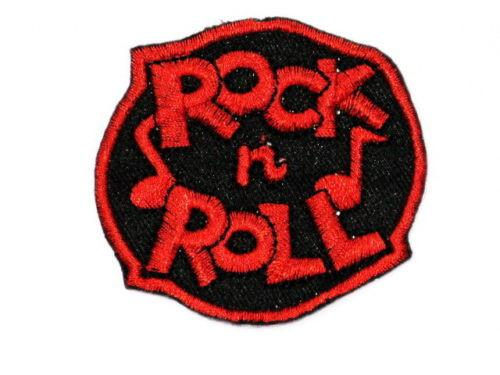 "ROCK N ROLL Red Rockabilly Iron On Embroidered Patch 2.9""/7.4cm - A Patch E Store"
