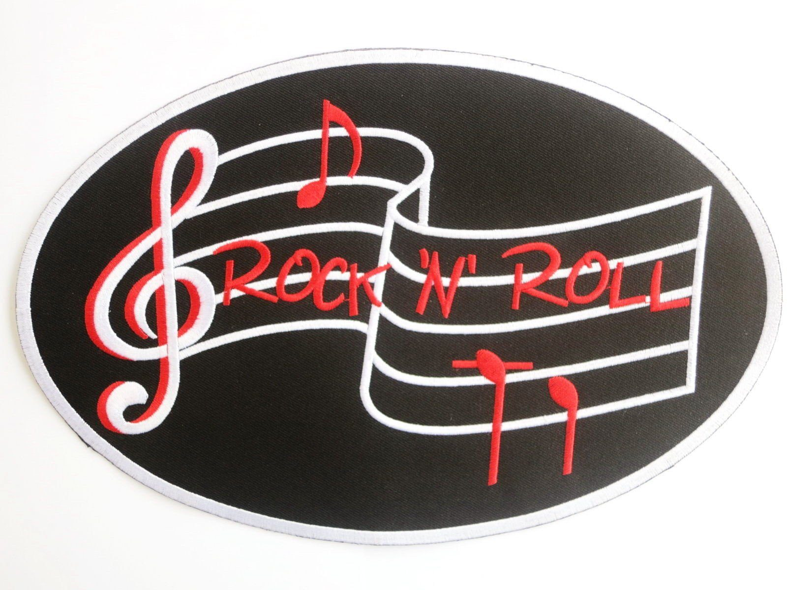 "ROCK N ROLL Music Big Rockabilly Embroidered Back Patch 9.9""/25cm - A Patch E Store"