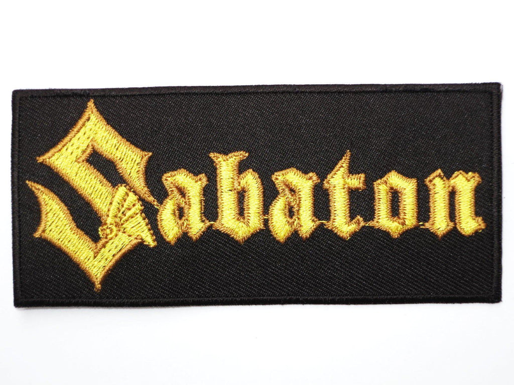"SABATON Iron On Sew On Embroidered Heavy Metal Patch 4""/10cm - A Patch E Store"