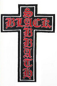 "BLACK SABBATH Crucifix XL Big Embroidered Back Patch 12.8""/32cm - A Patch E Store"