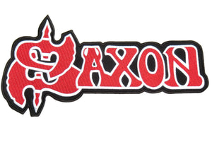 "SAXON Red Logo Big XL Embroidered Jacket Back Patch 12""/31cm - A Patch E Store"