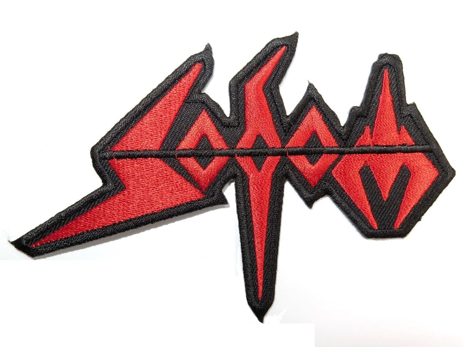 "SODOM Cut Out Logo Thrash Metal Embroidered Patch 4.9""/12.5cm - A Patch E Store"