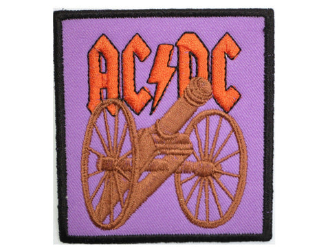 ACDC AC/DC Rock Canon Sew On Embroidered Patch
