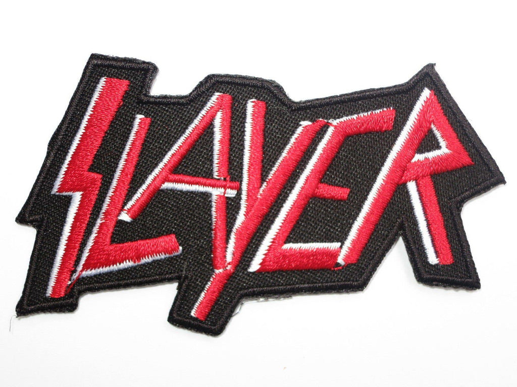 "SLAYER Red Logo Iron On Sew On Embroidered Patch 3.5""/9cm - A Patch E Store"