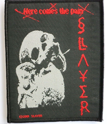 SLAYER Here Comes The Pain Sew On Woven Patch - A Patch E Store