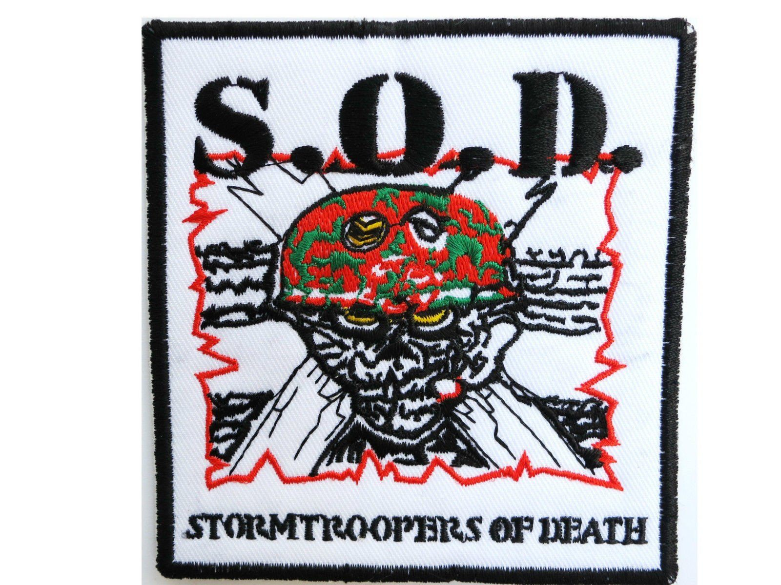 "S.O.D STORMTROOPERS OF DEATH Embroidered Thrash Patch 3.7""/9.7cm - A Patch E Store"