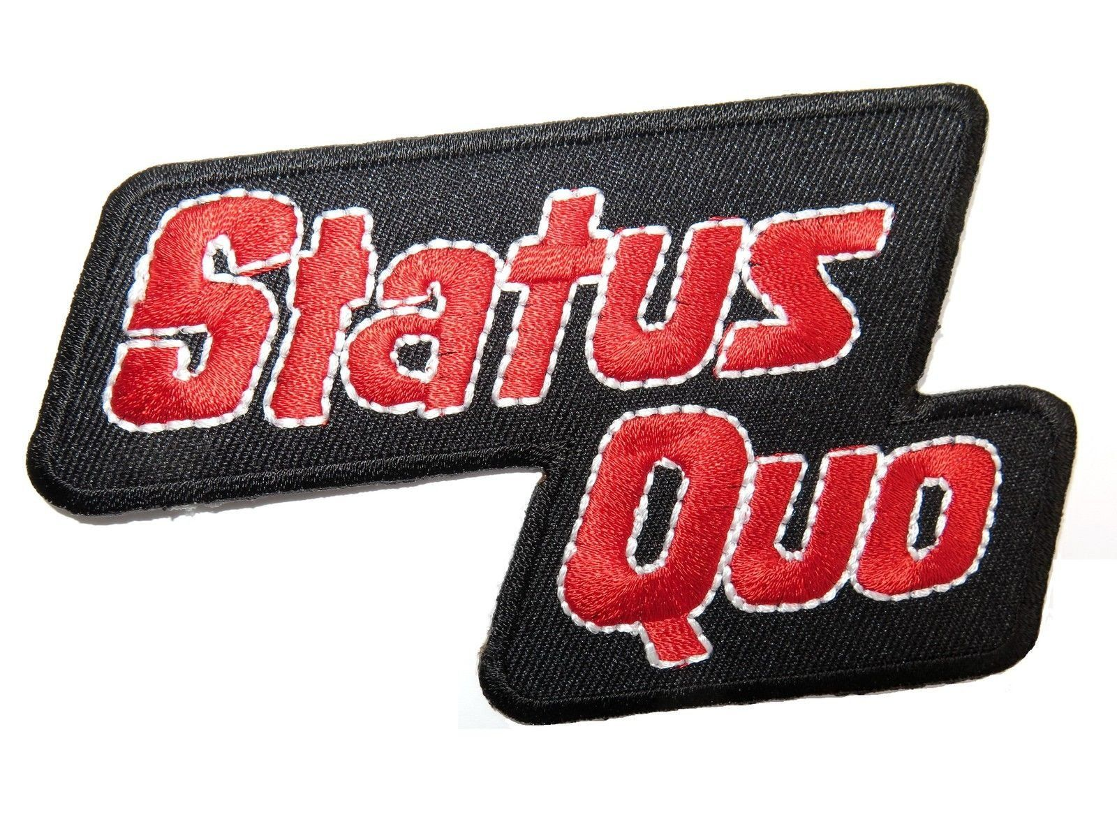 "STATUS QUO Iron On Sew On Embroidered Patch 4.2""/11cm - A Patch E Store"