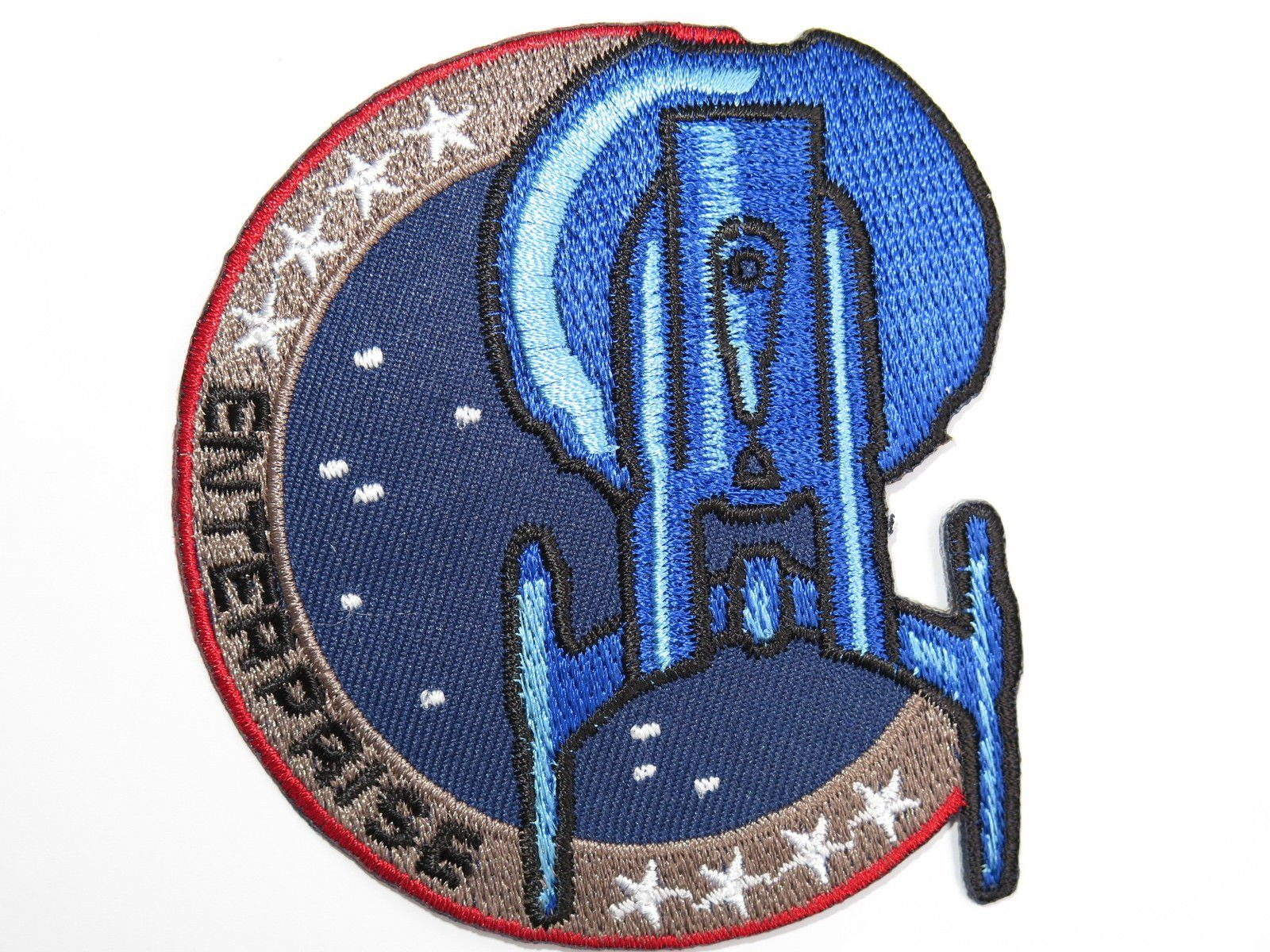 "STAR TREK ENTERPRISE Fancy Dress Embroidered Patch 3.4""/8.5cm - A Patch E Store"