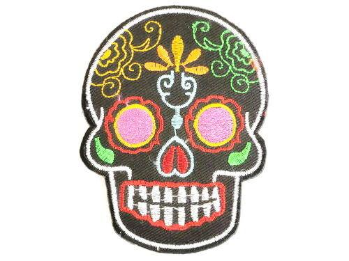 "Tribal Sugar Skull Rockabilly Iron On Embroidered Patch 3.5""/9cm - A Patch E Store"
